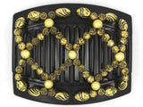 African Butterfly Thick Hair Comb - Ndalena Black 56