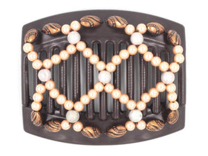 African Butterfly Thick Hair Comb - Ndalena Brown 115