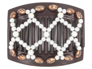 African Butterfly Thick Hair Comb - Ndalena Brown 132