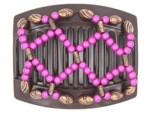 African Butterfly Thick Hair Comb - Ndalena Brown 136