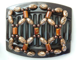 African Butterfly Thick Hair Comb - Ndalena Brown 18