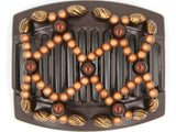African Butterfly Thick Hair Comb - Ndalena Brown 89