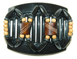 African Butterfly Thick Hair Comb - Stones & Bones Black 21
