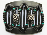 African Butterfly Thick Hair Comb - Stones & Bones Black 42