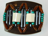African Butterfly Thick Hair Comb - Stones & Bones Brown 08