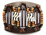 African Butterfly Thick Hair Comb - Stones & Bones Brown 43
