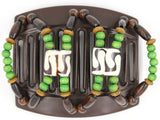African Butterfly Thick Hair Comb - Stones & Bones Brown 59