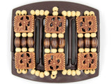 African Butterfly Thick Hair Comb - Tripla Brown 26
