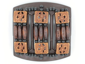 African Butterfly Thick Hair Comb - Tripla Brown 29