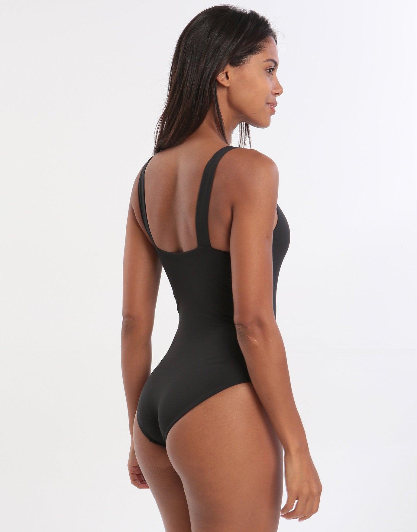 Elin High Neck Swimsuit - Black