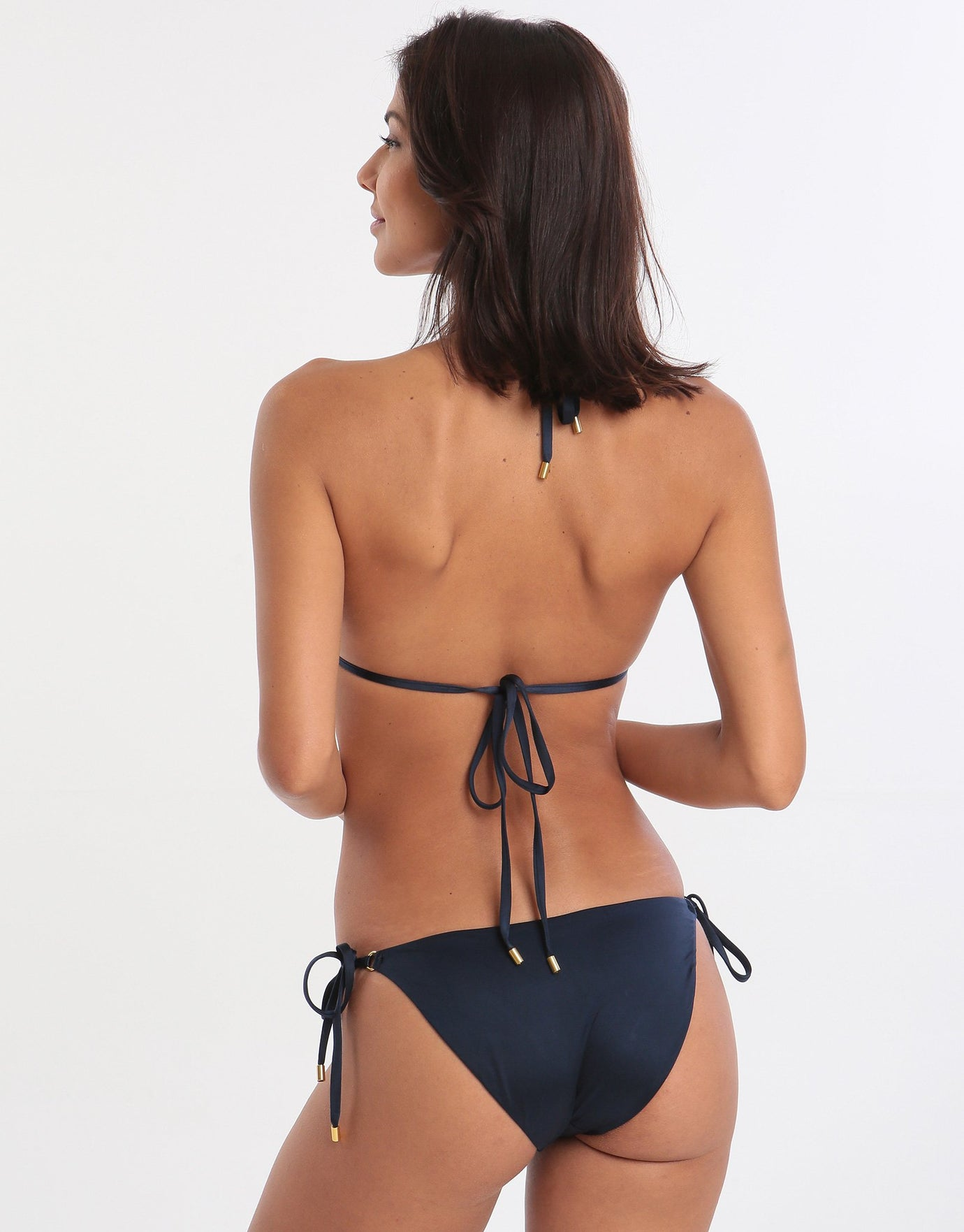 Alicia Ring Tie Bikini Bottom - Midnight