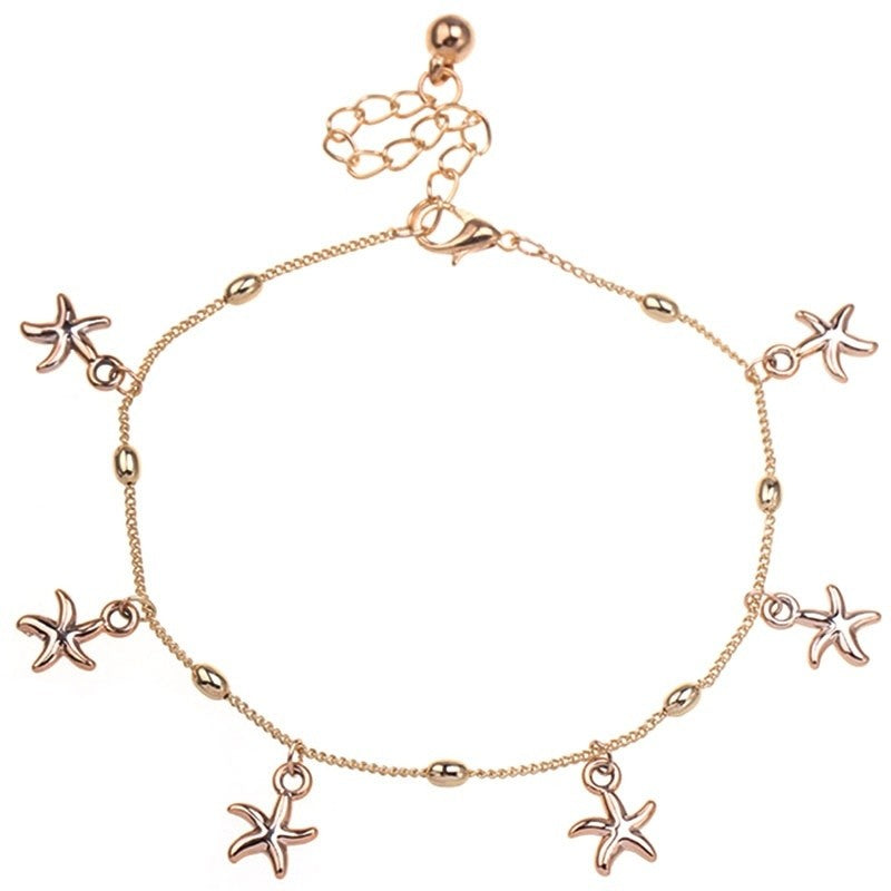 4a736e45a9a2 Women Charm Gold Starfish Chain Anklet Bracelet Barefoot Sandal Foot J –  Primary Jewelry