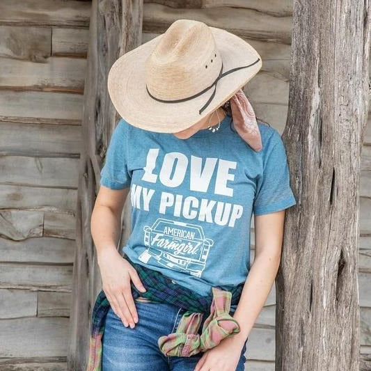 Love My Pickup acid washed tee by American Farmgirl
