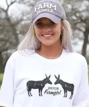 Two Jacks ladies tee in white from American Farmgirl