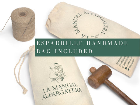 Get a bag for your espadrille navy canvas| La Manual Alpargatera