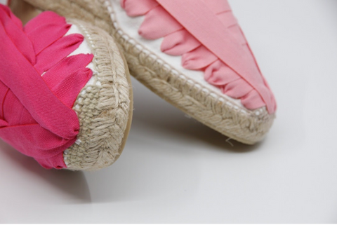 Handmade Espadrilles for Women Pink Pinxo | La Manual Alpargatera