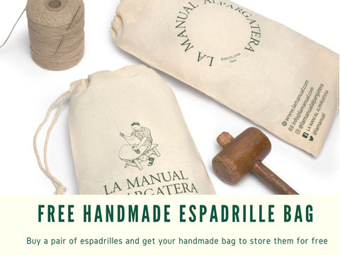Get a free bag with your espadrille | La Manual Alpargatera