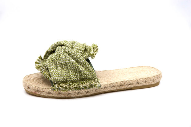 Sandal Espadrille Tweed Green Prat