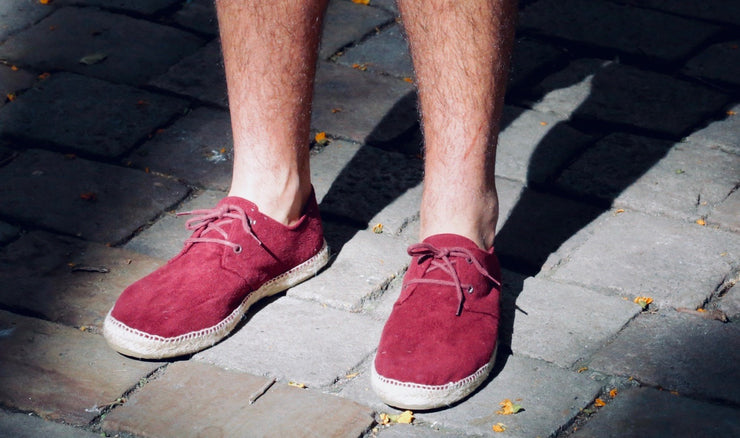 Vegan Espadrille in Red for Men | Nacho | La Manual Alpargatera