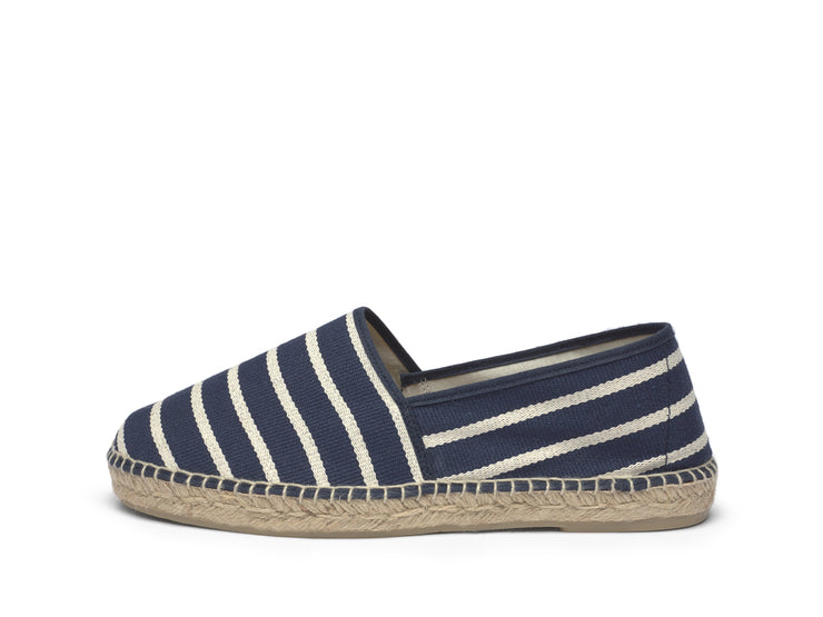 Espadrille for Men with Navy Blue Stripes | La Manual Alpargatera