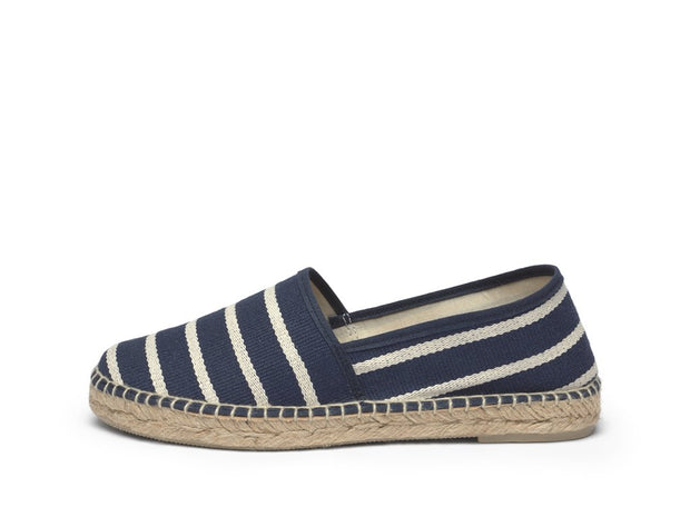 Canvas Espadrille for Women with Navy Stripes | La Manual Alpargatera