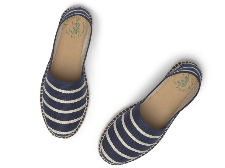 Espadrille for Women with Navy Stripes made in Spain  | La Manual Alpargatera