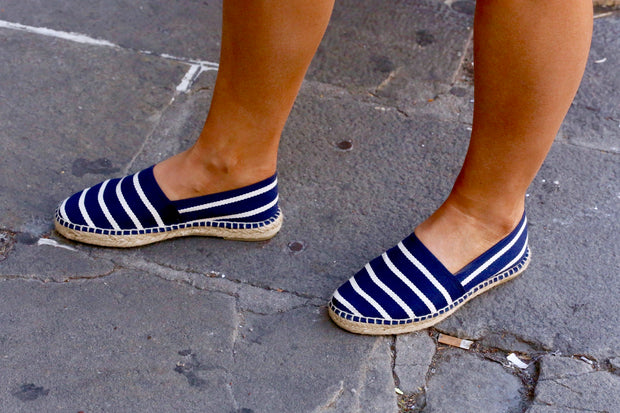 Espadrille Canvas for Women Navy Stripes