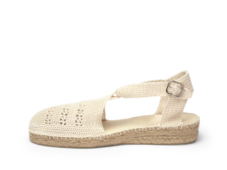 Espadrille Sandal for Women in Crochet | La Manual Alpargatera