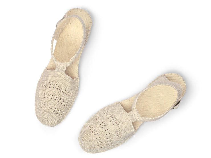 Espadrille Sandal for Women in Crochet made in Spain | La Manual Alpargatera