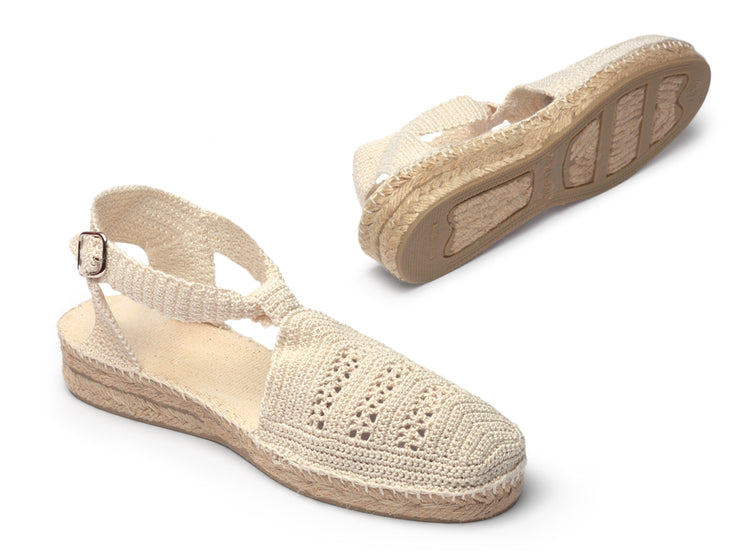 Vegan Espadrille Sandal for Women in Crochet  | La Manual Alpargatera