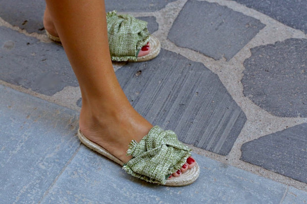 Sandals - Prat Green Women Handamde Espadrille