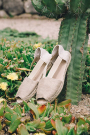 Sandal Espadrille for Women in Beige | Sahara | La Manual Alpargatera