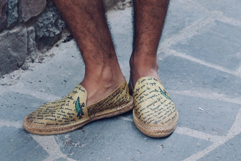 Handmade Espadrille for Men | Texto | La Manual Alpargatera