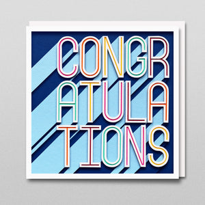 'Congratulations' - A Dozen Greetings Card