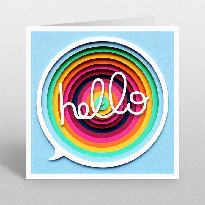 'Hello' - A Dozens Greeting Card