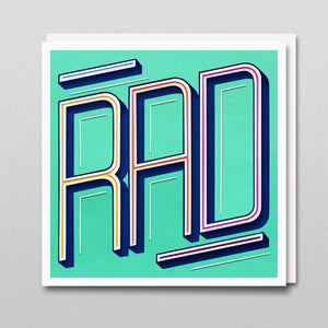 'Rad' - A Dozen Greetings Card