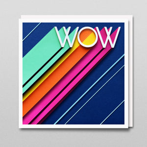 'Wow' - A Dozen Greetings Card