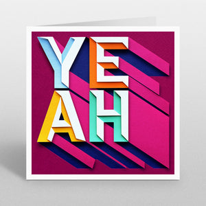 'Yeah' - A Dozen Greetings Card
