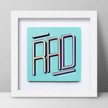 Load image into Gallery viewer, 'Rad' Framed Artwork