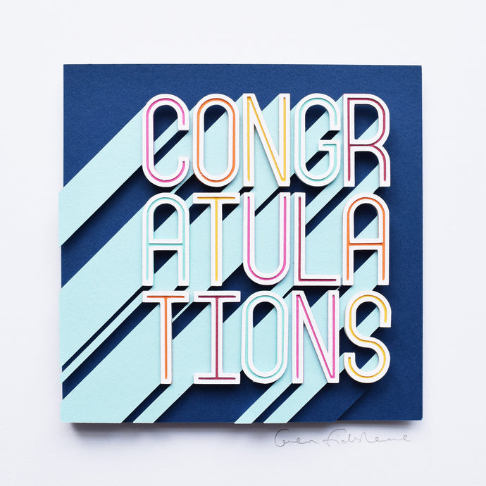 'Congratulations' Framed Original Artwork