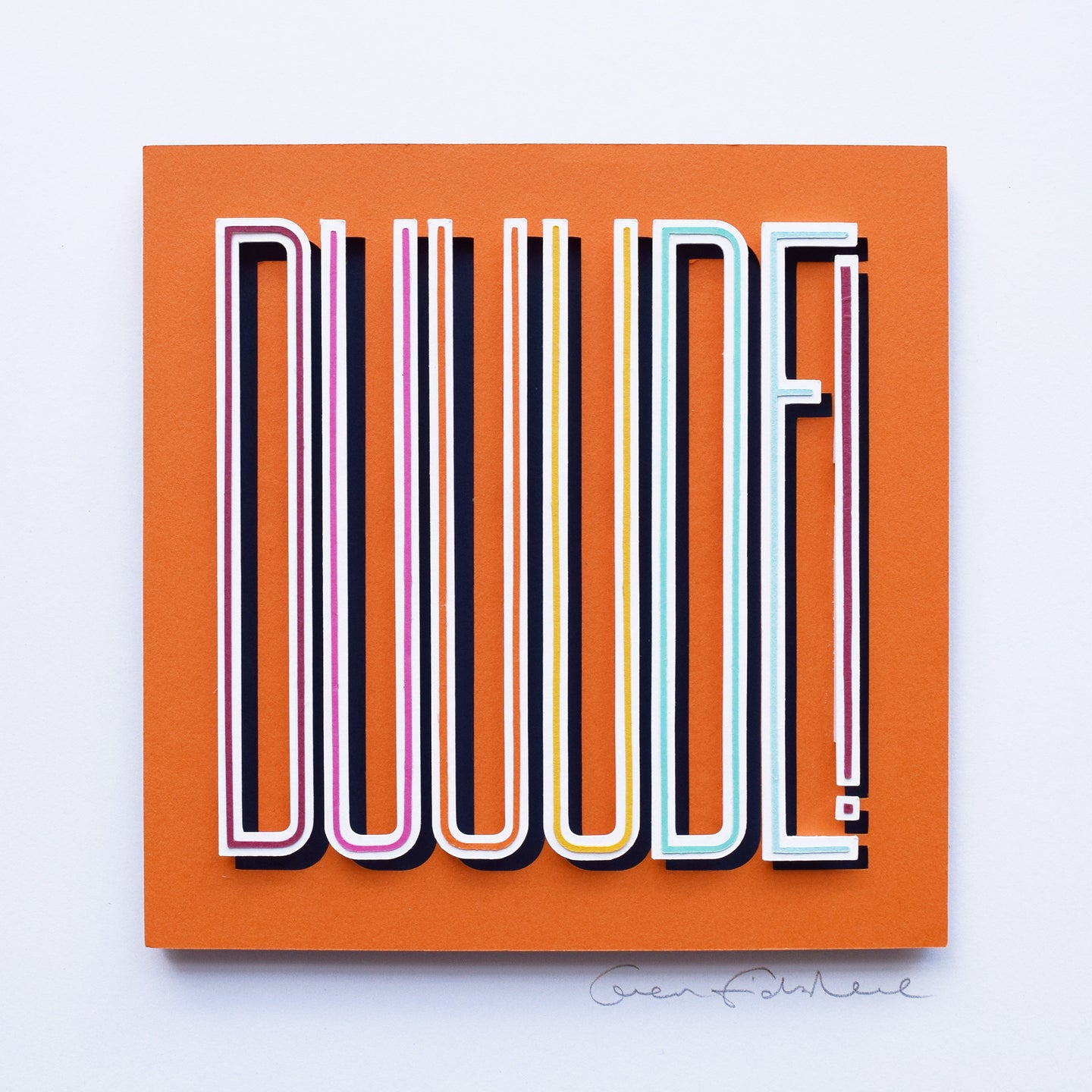'Duuude' Framed Original Artwork