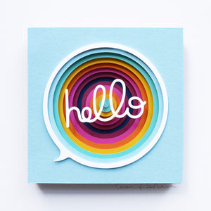 'Hello' Framed Original Artwork