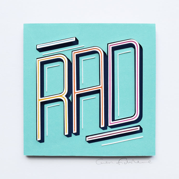 'Rad' Framed Artwork