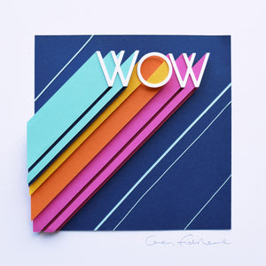 'Wow' Framed Original Artwork