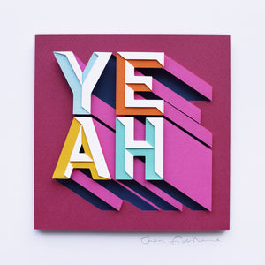 'Yeah' Framed Original Artwork