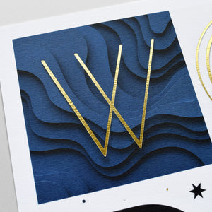 'Wonderful' - Gold Foiled Print