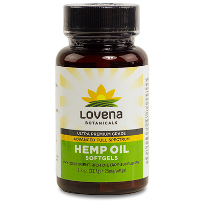 Lovena Botanicals CBD Hemp Oil Soft Gels