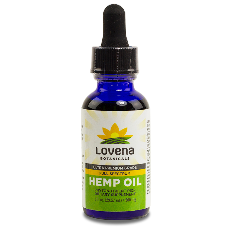 Lovena Botanicals CBD Hemp Oil Tinctures