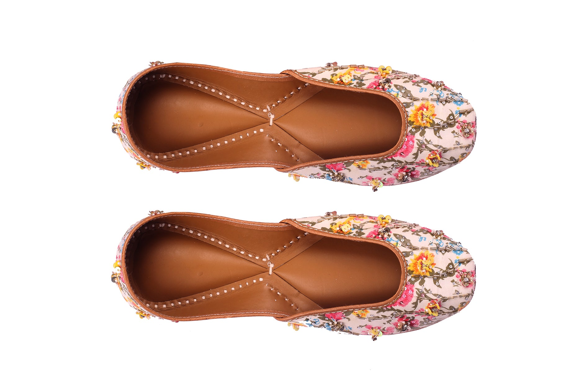 Floral Printed Embroidered Jutti