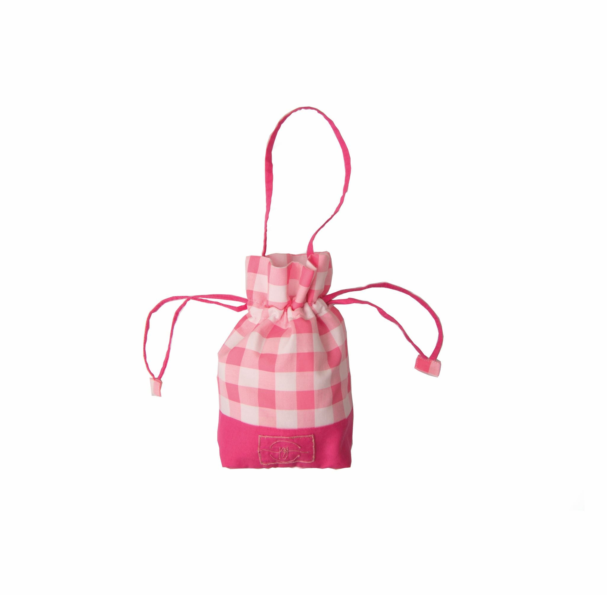 Pink check cotton based safety shopping essential kit